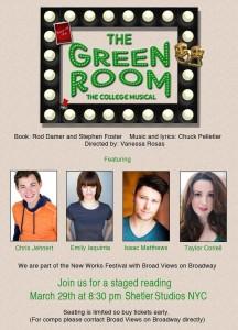 Green Room reading